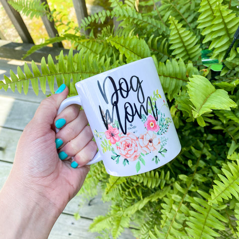 Dog Mom Floral Coffee Mug