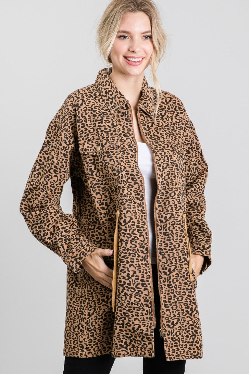 Attention To Details Leopard Jacket