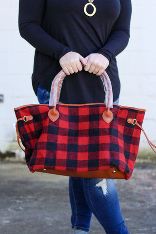 *SALE* Buffalo Plaid Tote Bag