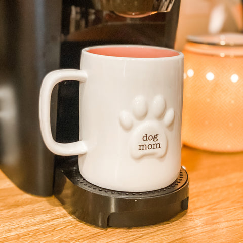 Dog Mom Paw Coffee Mug