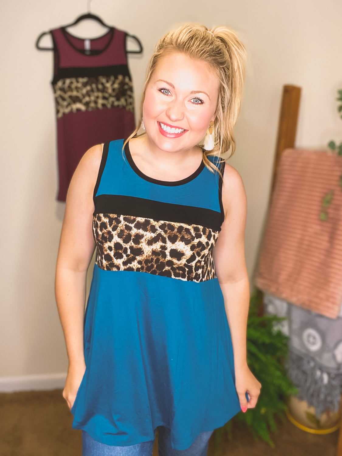 *SALE* Stripes of Leopard Tank - Top