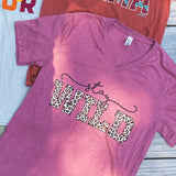 *SALE* Stay Wild Leopard - Mauve - Graphic Tee