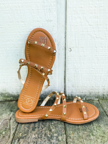 Tessa Stud Sandals - Tan