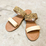 On The Move Sandals - Leopard/Tan