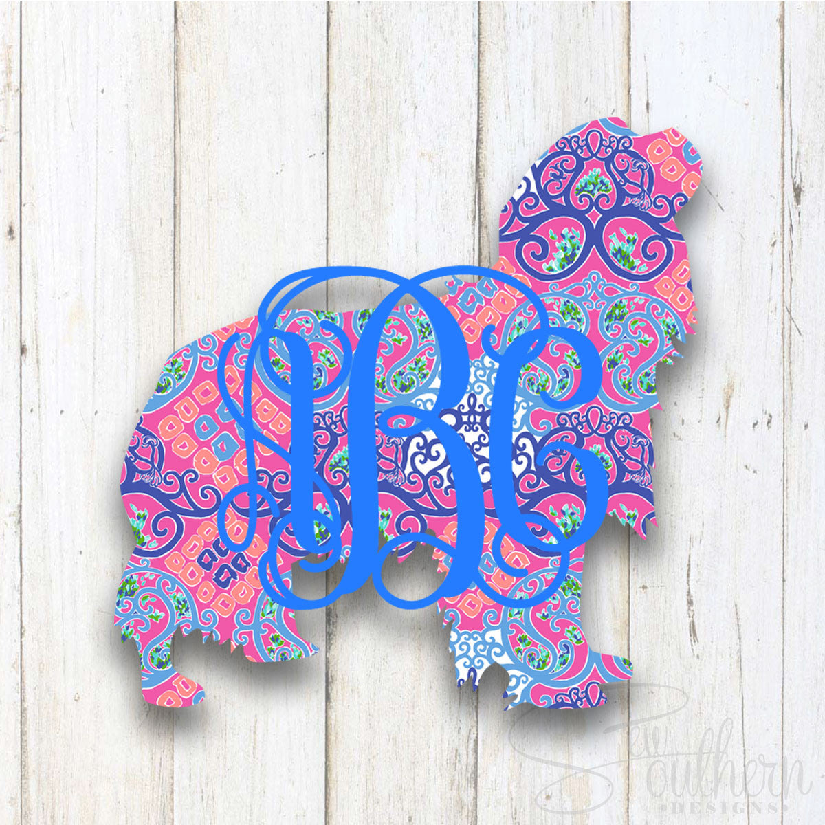 Lilly King Charles Cavalier Monogram Decal