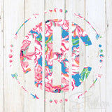 Lilly Arrow Frame Monogram Decal