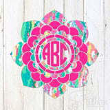 Lilly Bold Two Color Flower Mandala Decal
