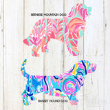 Tie Dye Dog Silhouette Decal