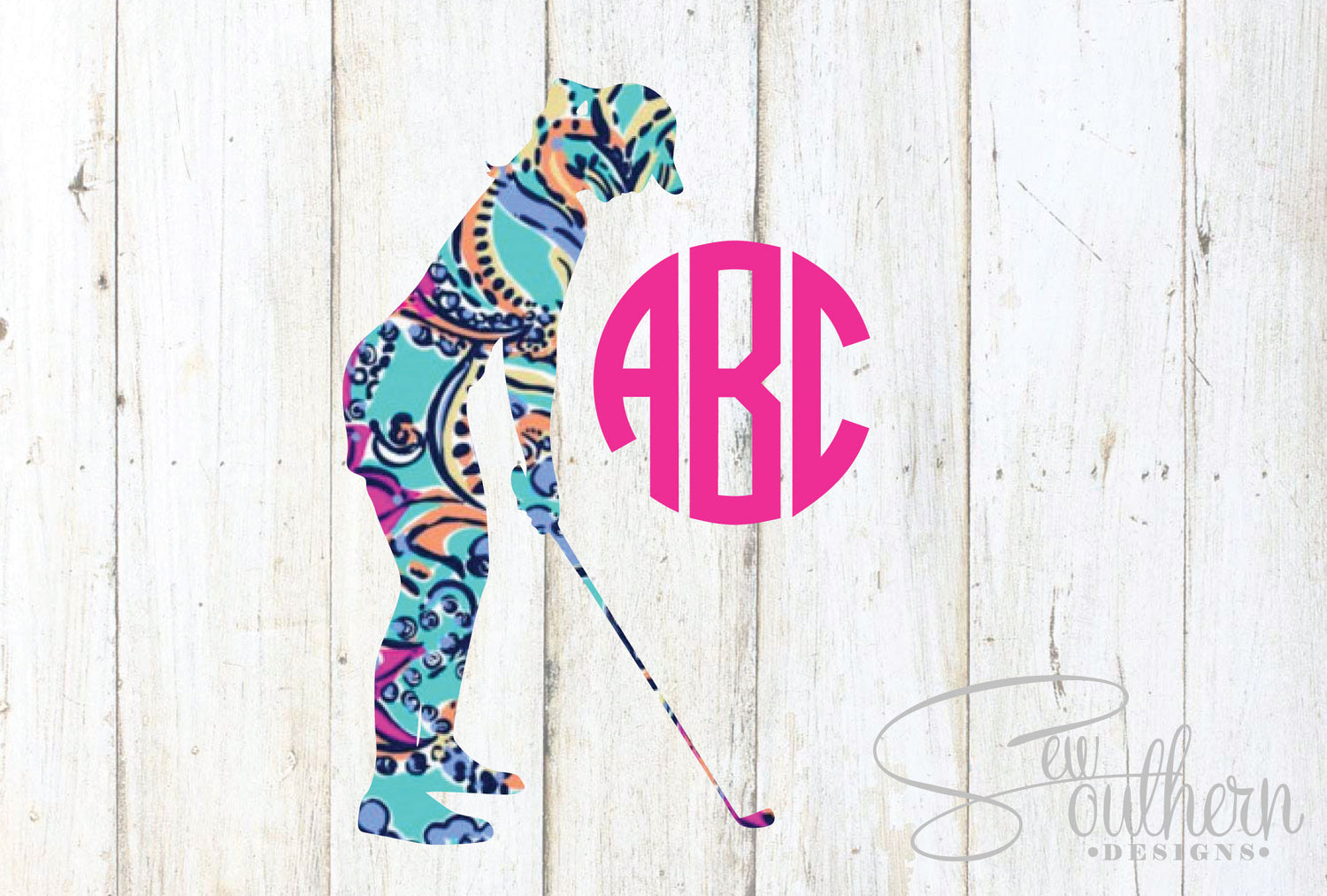 Lilly Golf Girl Decal