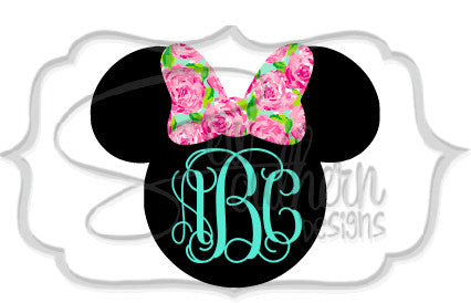 Lilly Minnie Mouse Monogram Decal
