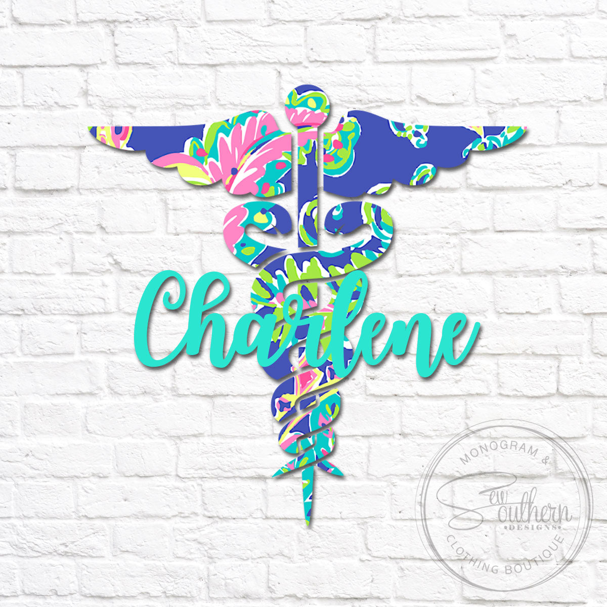 Lilly Nurse Symbol Name Decal