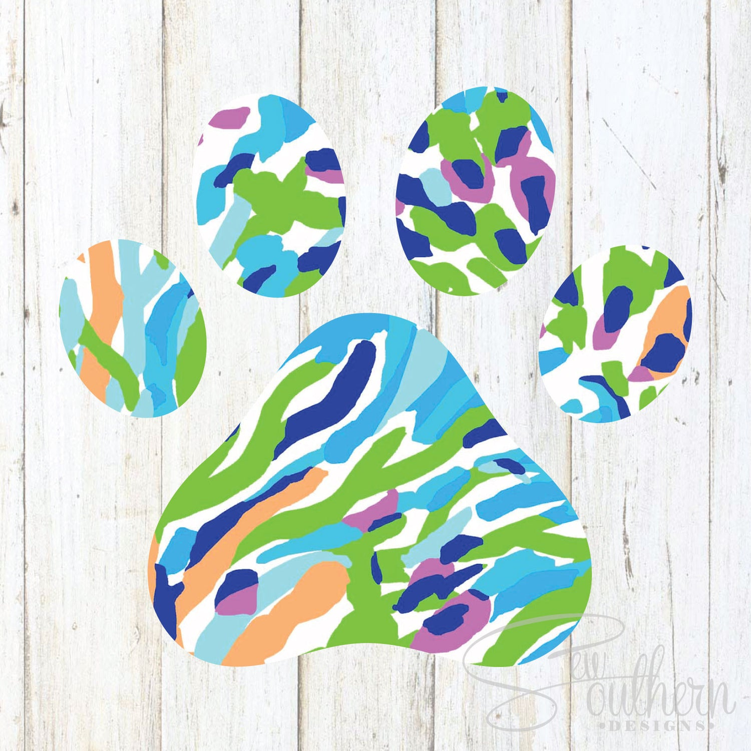 Lilly Solid Paw Print Decal