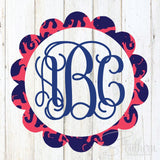 Lilly Scallop Monogram Decal