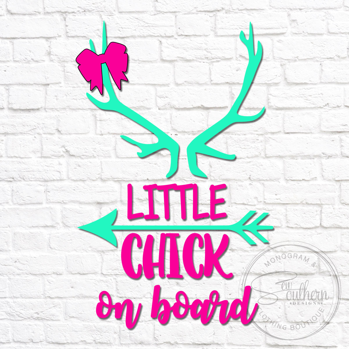 Little Chick On Board Decal