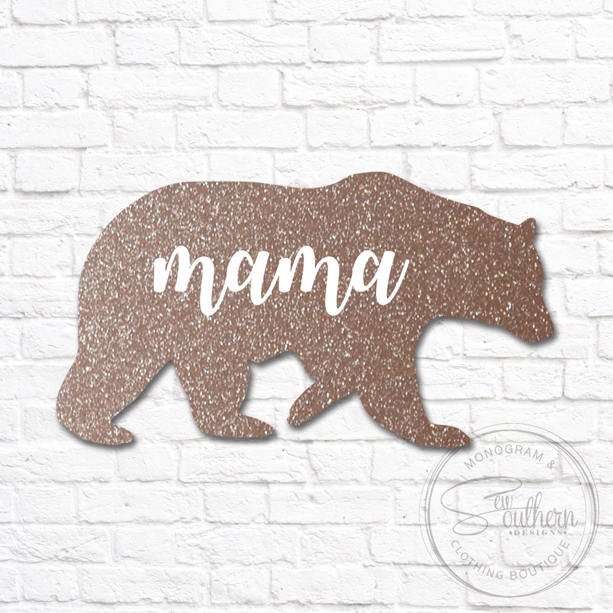 Mama Bear Glitter Decal