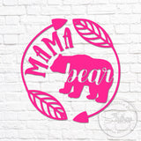 Mama Bear Arrow Frame Decal