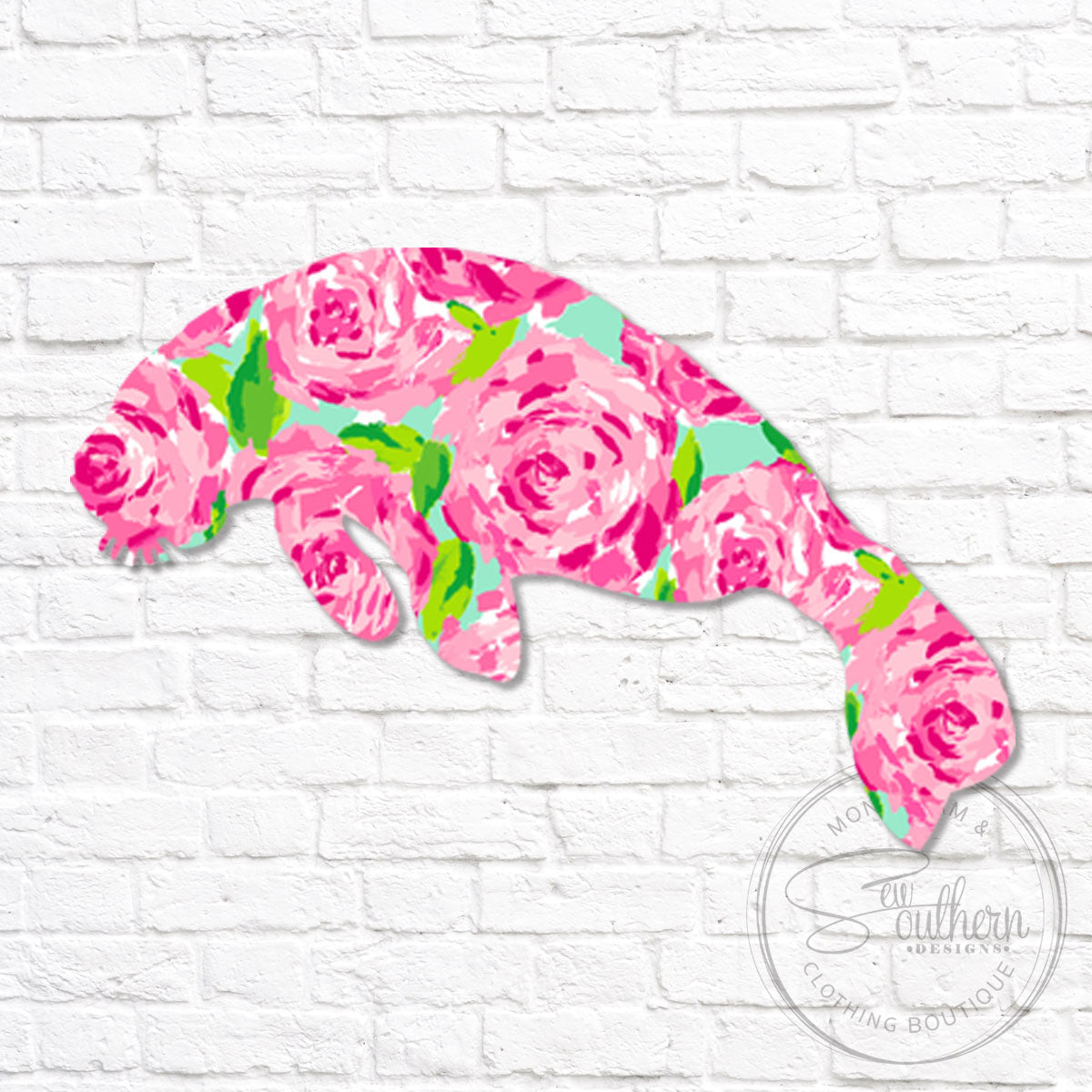 Lilly Manatee Decal