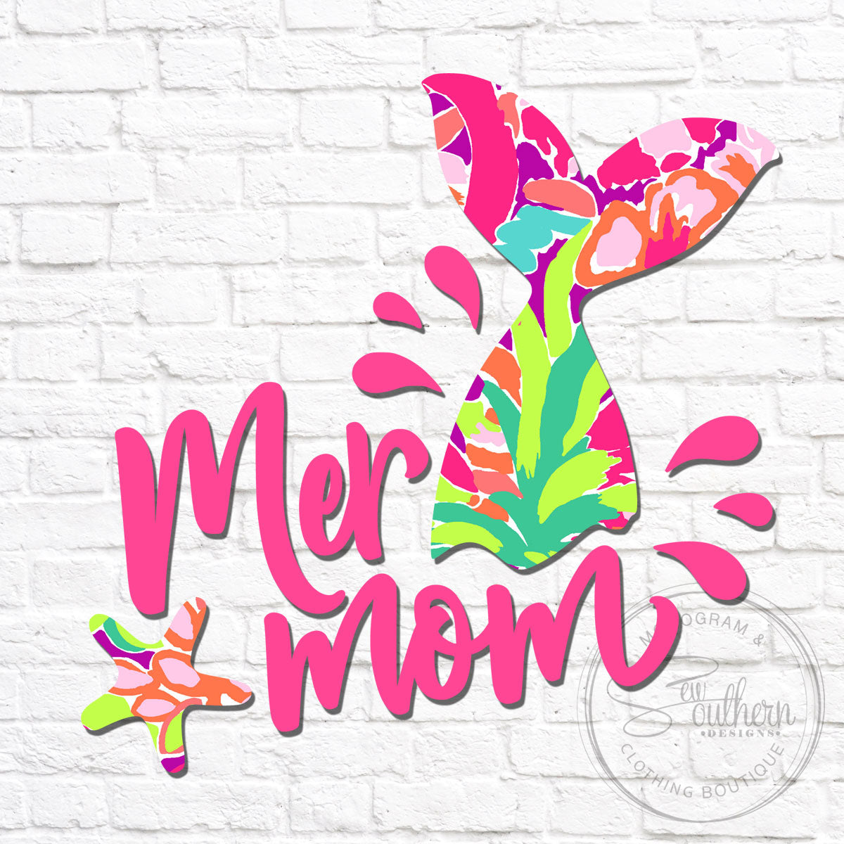 Lilly Mer Mom Decal