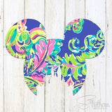 Lilly Mickey Head Castle Decal