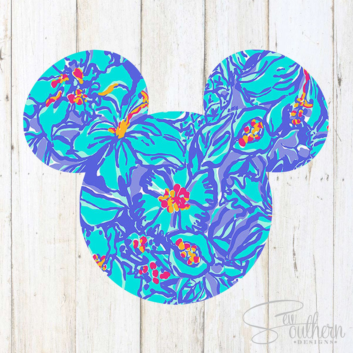 Lilly Mickey Head Decal