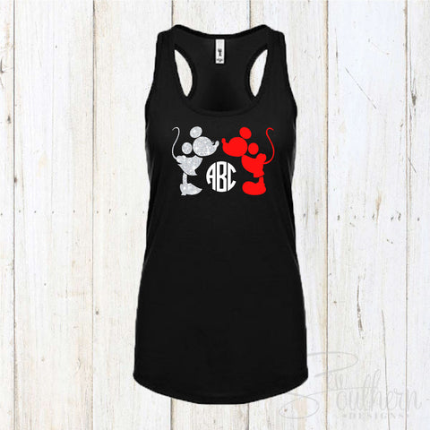 Minnie and Mickey Disney Monogram Tank