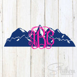 Mountain Monogram