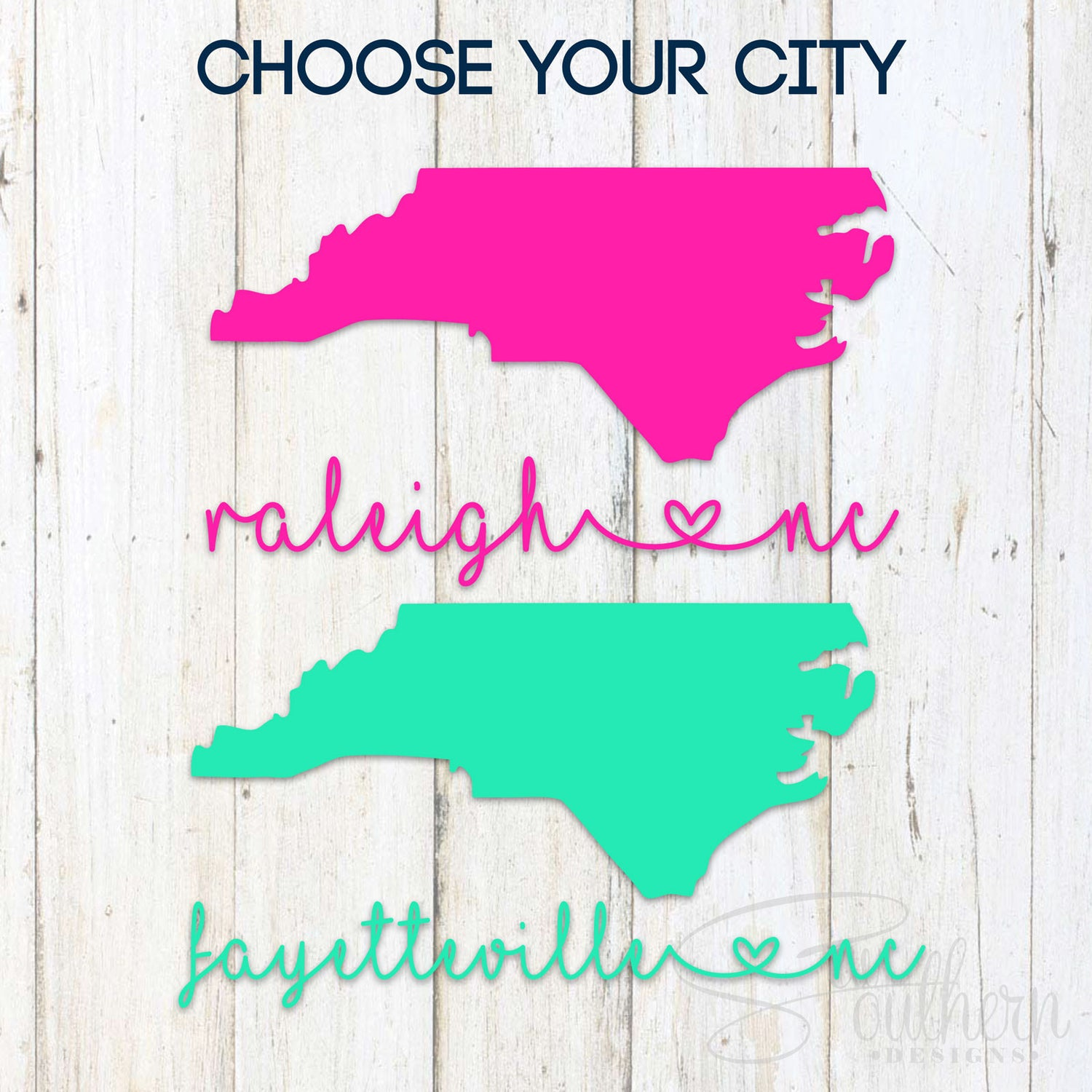 North Carolina City Decal