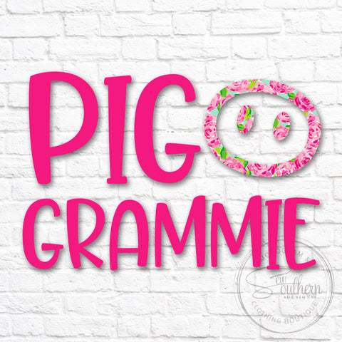 Lilly Pig Grammie Decal