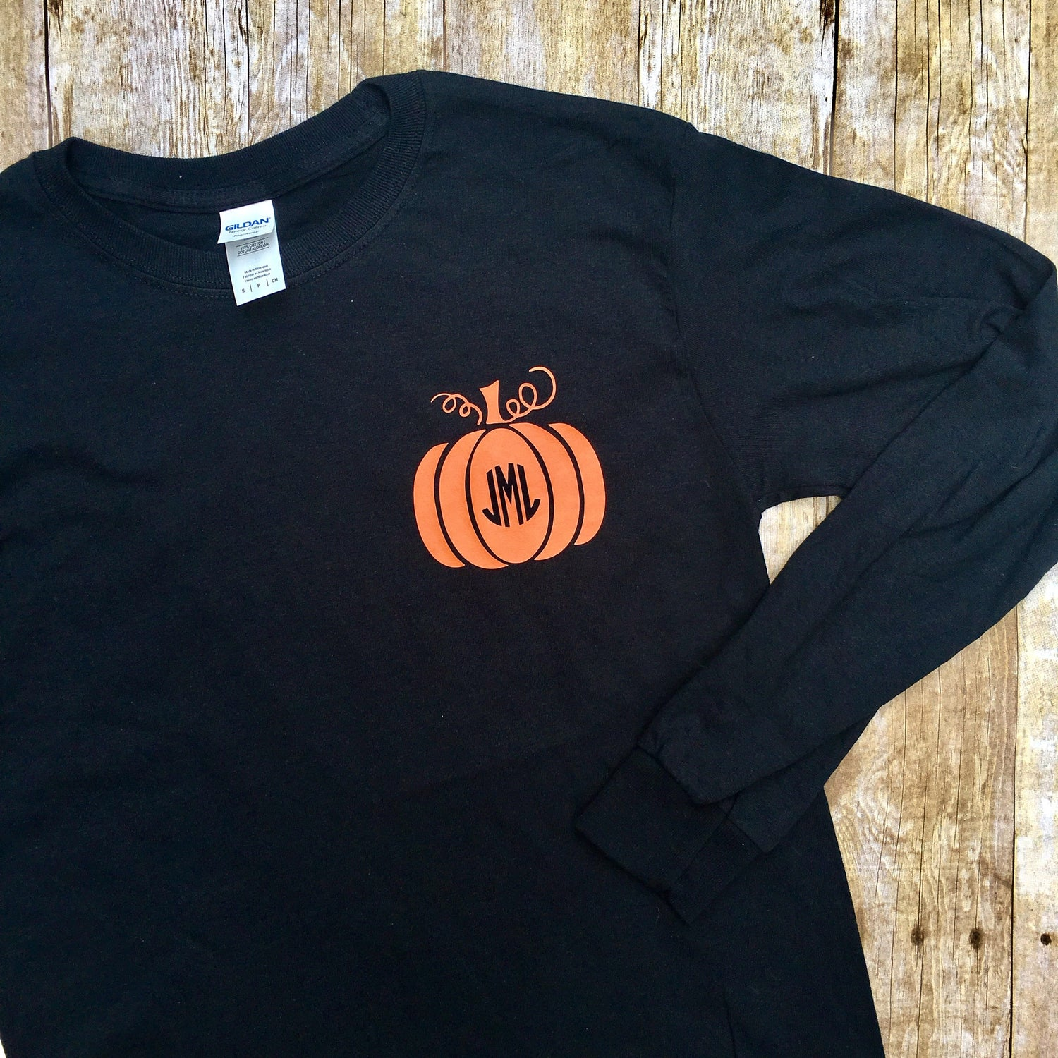 Pumpkin Monogram T-Shirts - LONG SLEEVE