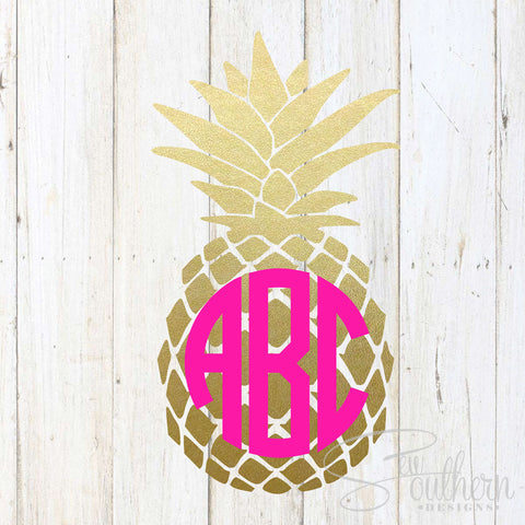 Pineapple Pattern Monogram