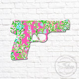 Lilly Pistol Gun Decal