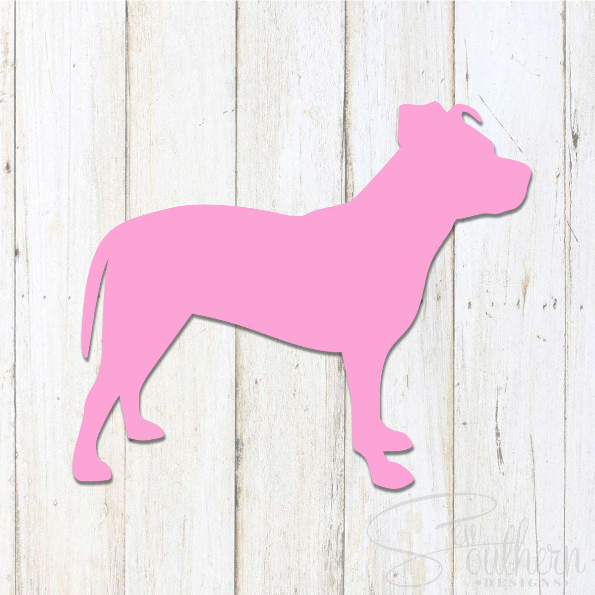 Pitbull Natural Ears Decal