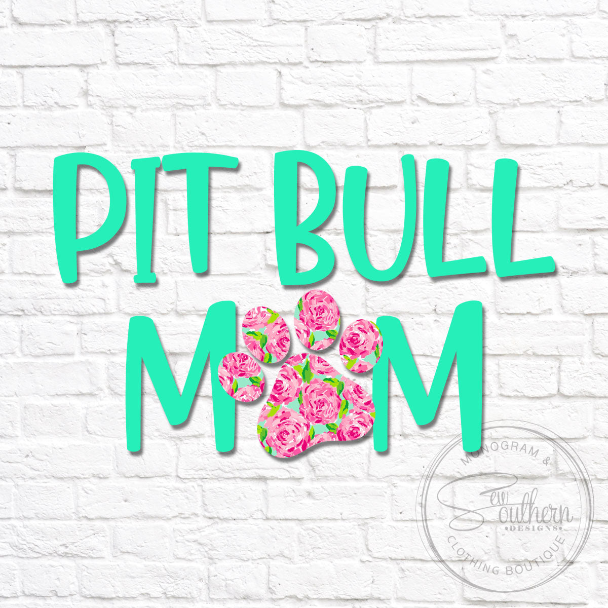 Lilly Pit Bull Mom Dog Decal