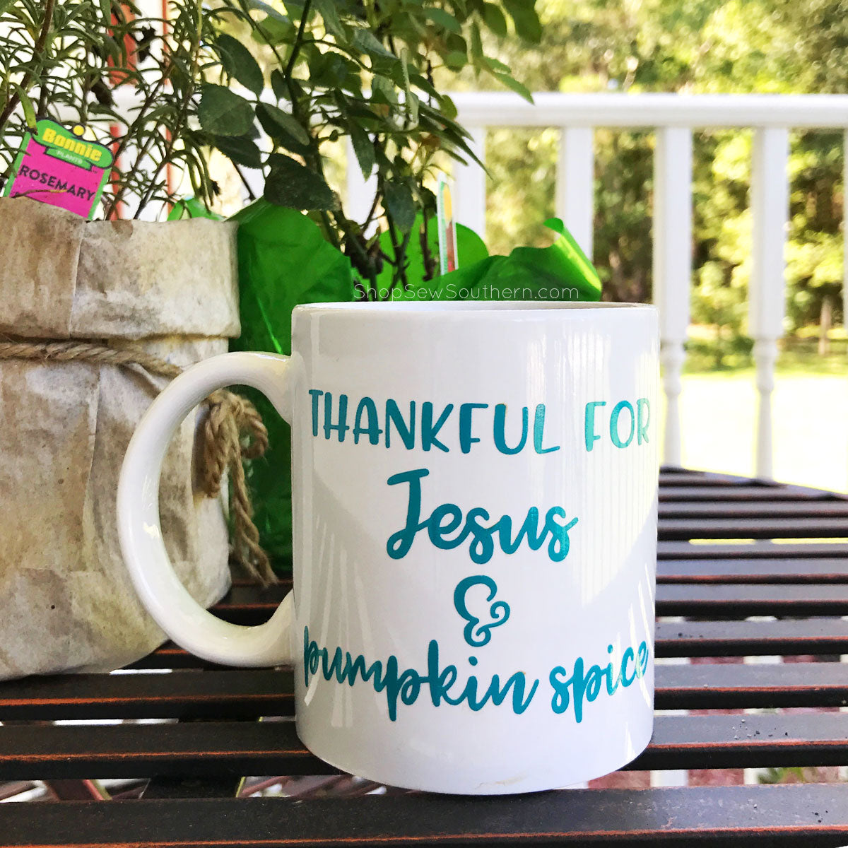 Thankful For Pumpkin Spice and Jesus Coffee Mug