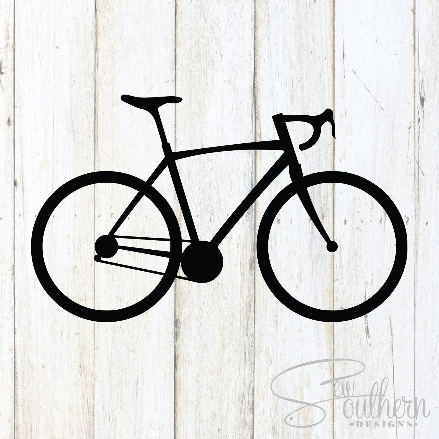 Road bike decal sew southern designs