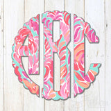 Lilly Scalloped Monogram Decal