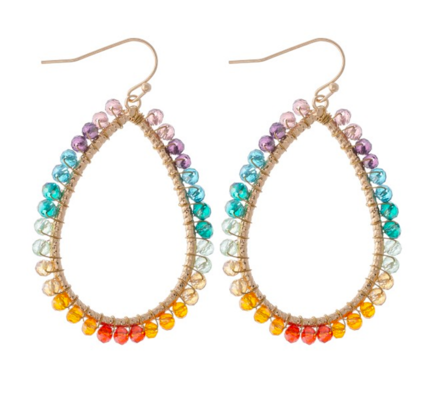 Briar Beaded Teardrop Earrings - Multi