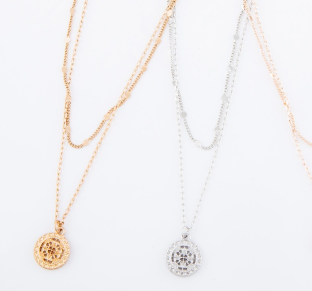 Lost and Found Coin Layer Necklace - Gold