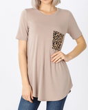 Luna Leopard Pocket - Top
