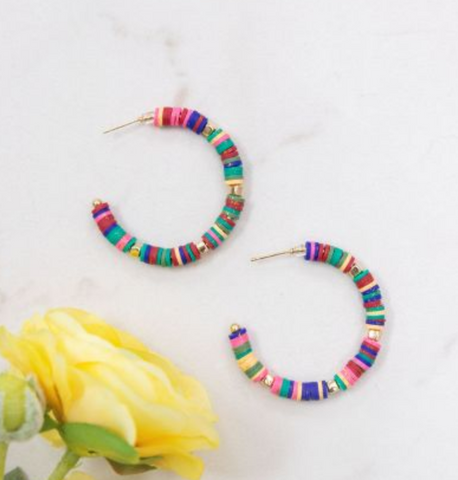 All Summer Long Hoop Earrings