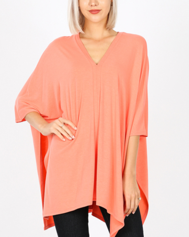 Uptown Chic Poncho - Top
