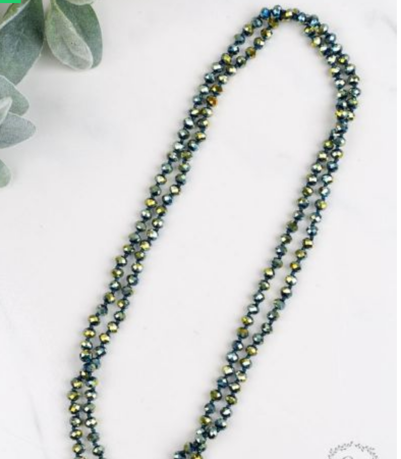 "60"" Long Beaded Necklace"