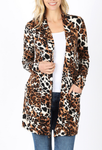 Dare To Dream Cardigan - Leopard