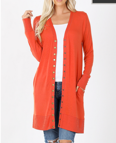 *DEAL* Here For You Snap Button Cardigan