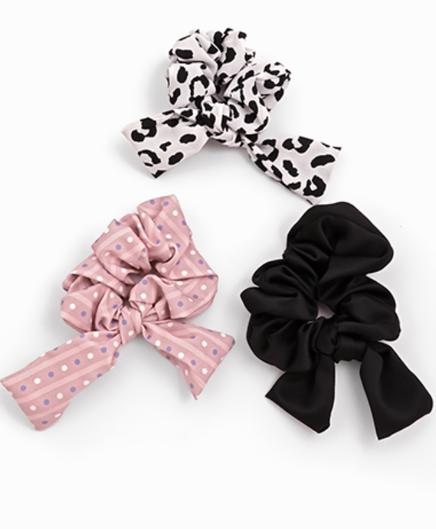 3PC Hair Scrunchie Set