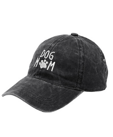 Dog Mom Baseball Cap - Black