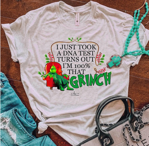 100% That Grinch - Grey - Graphic T-Shirt