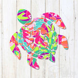 Lilly Sea Turtle Decal
