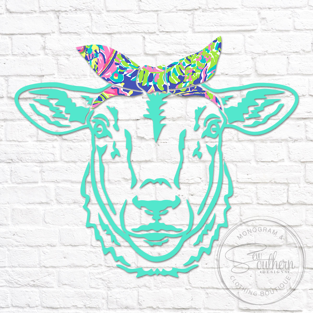 Lilly Sheep Head Bandana Decal