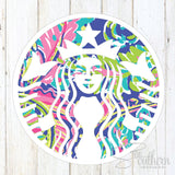 Lilly Starbucks Decal